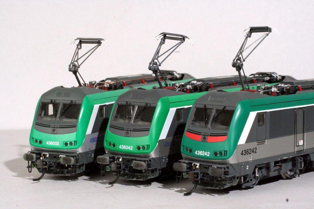 3 - Les différentes variantes de BB 36000 vertes : 436033, 436042 et la dernière, la 436242.
