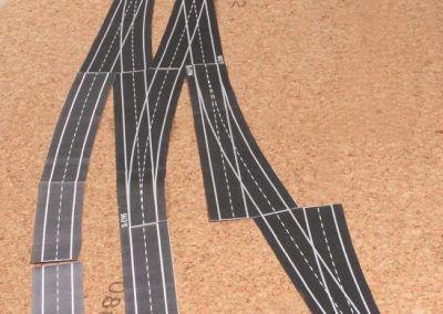 4-Un exemple de pose à blanc d'aiguilles et d'éléments de voie sortis des planches RMF.
