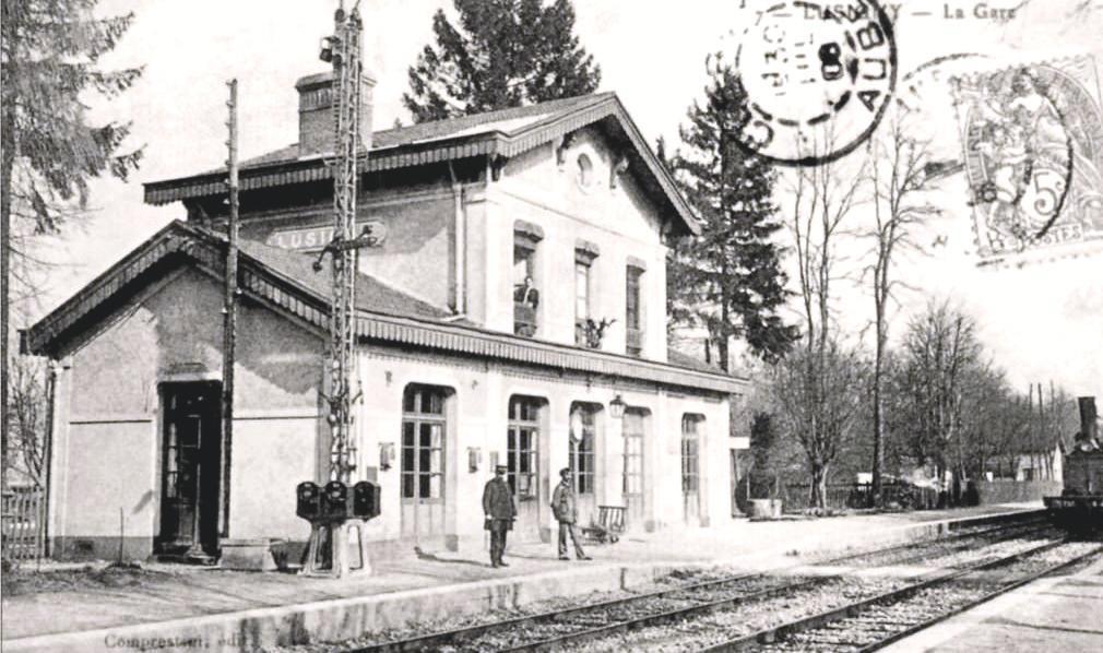 Le BV vers 1910 où l'on voit très bien le bloc Lartigue installé en 1891 et qui sera remplacé en 1935 par le Block Automatique Mécanique (BAM) Est sur cette section.
