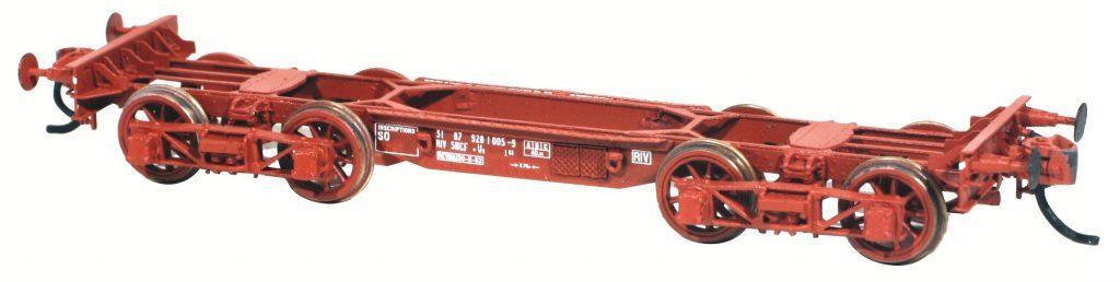 Le wagon en version UIC, l'une des livrées possibles et réelles proposées par AMF 87.