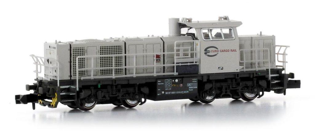 La Vossloh G1000B en livrée ECR.