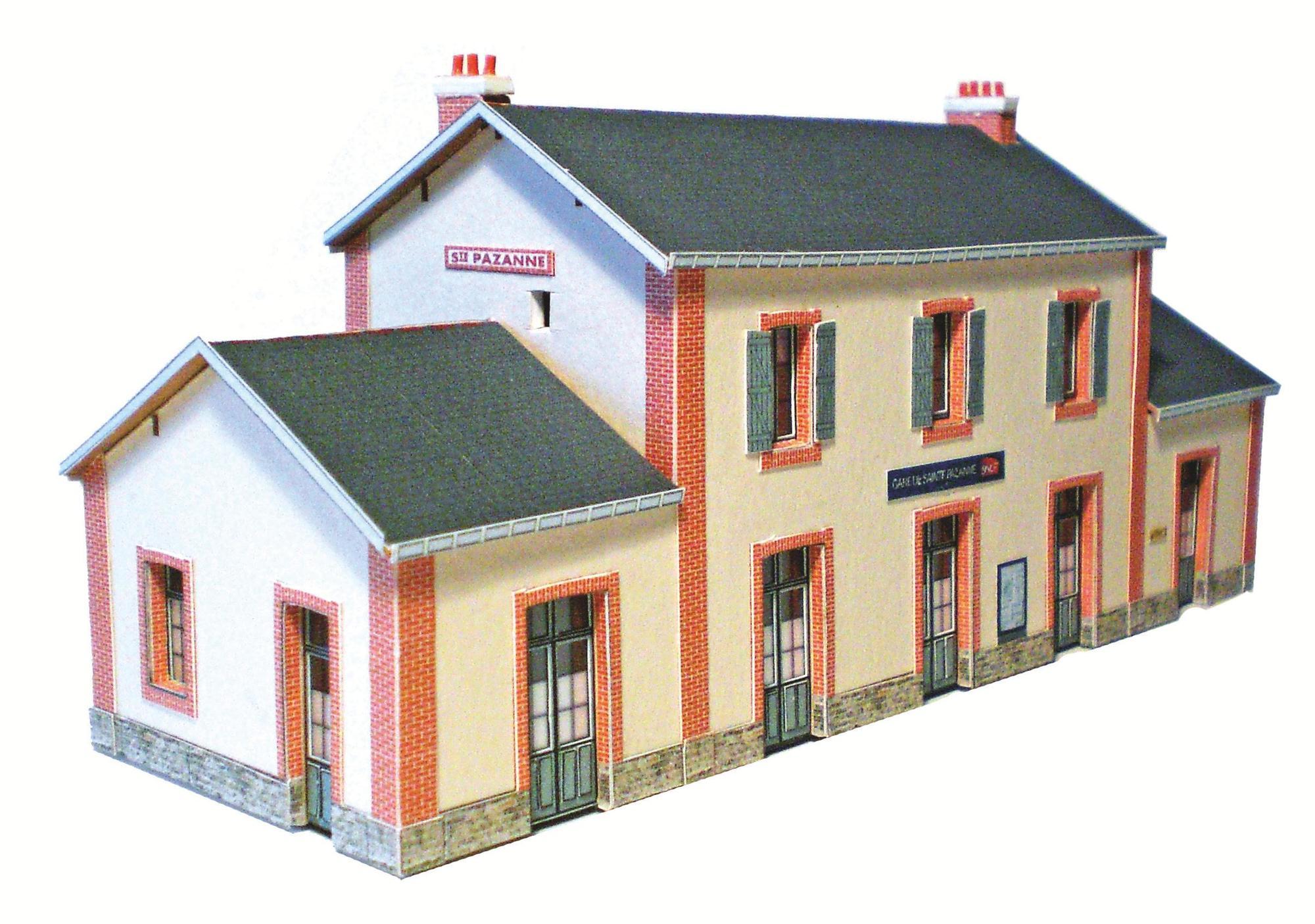 1-La gare de Sainte Pazanne en N. Une réalisation à la portée de tous avec nos planches décorées