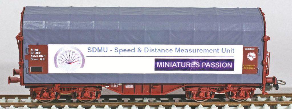 5 - Le wagon SDMU pour mesure de vitesse, produit Miniatures Passion