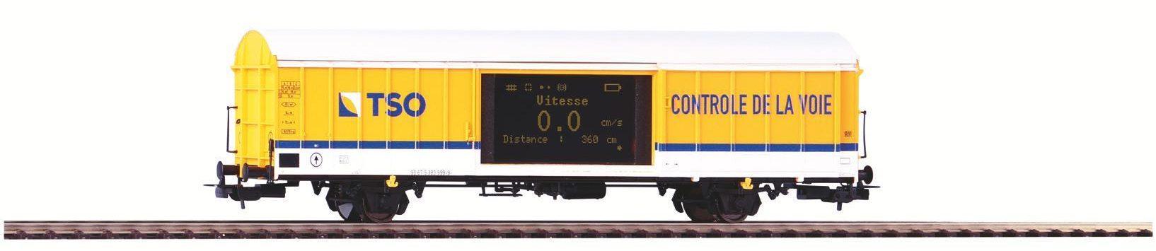 Wagon de mesure de vitesse Piko livrée TSO réf. 55053