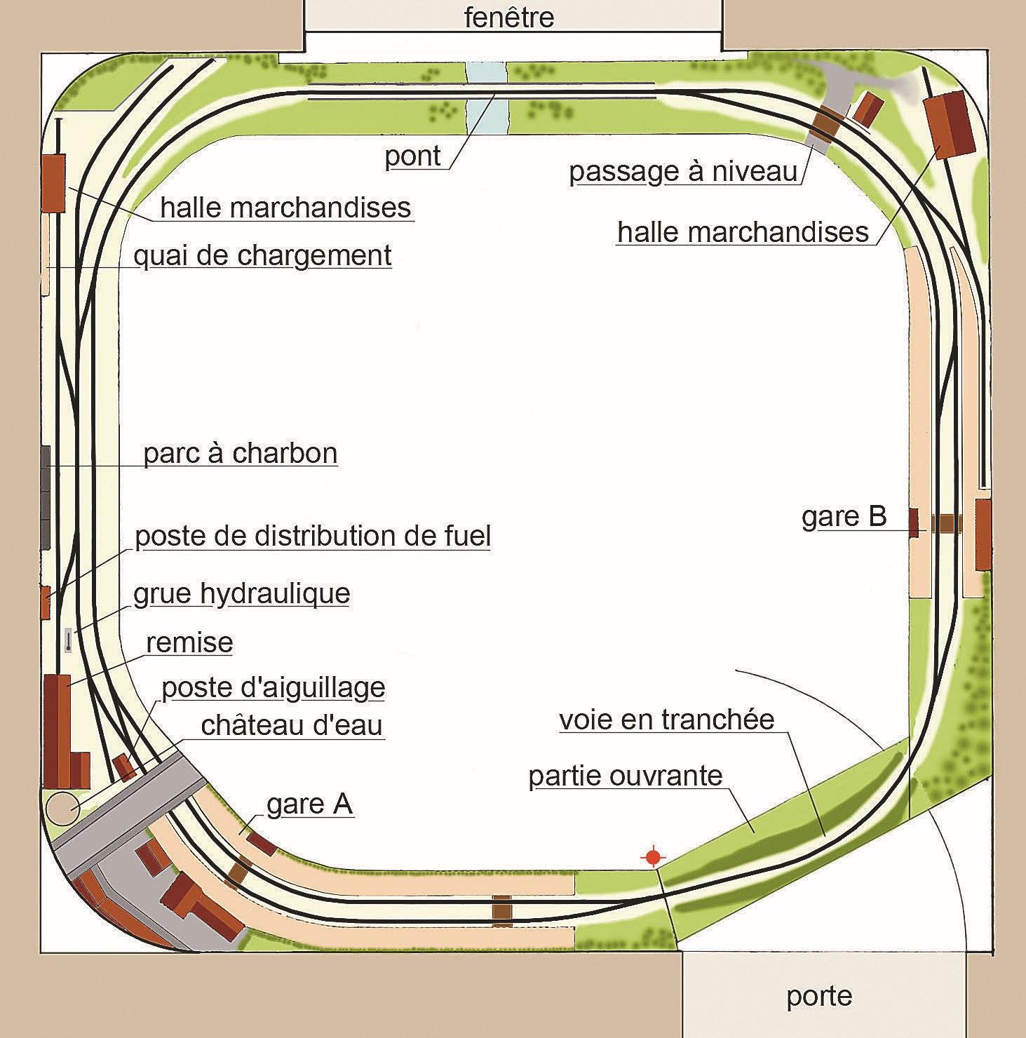 Ce tracé de type tour de pièce peut s'inscrire dans un espace réduit.