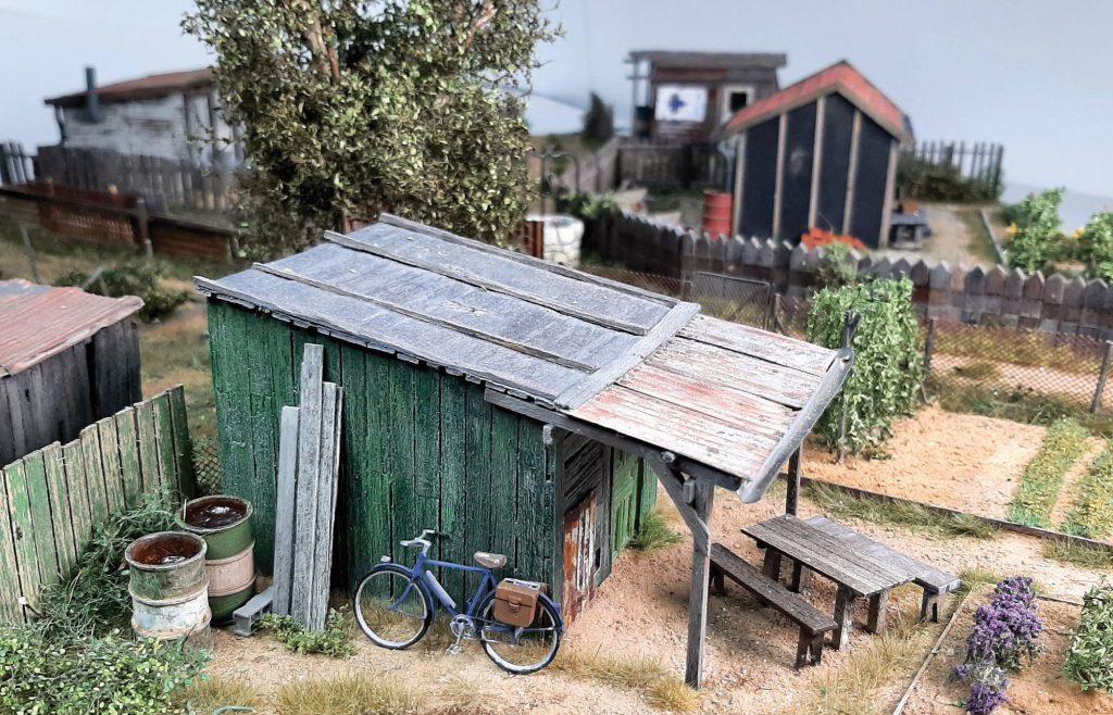 Une cabane pour jardins cheminots en O