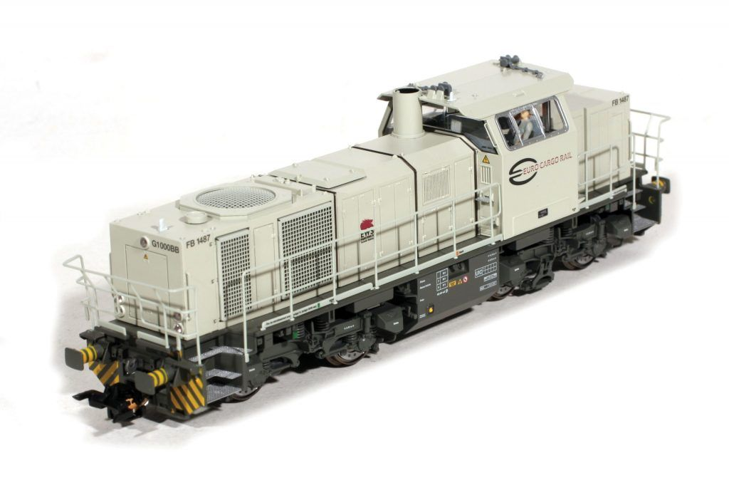 La locomotive ESU G 1000 d'ECR porte encore le capteur Indusi.