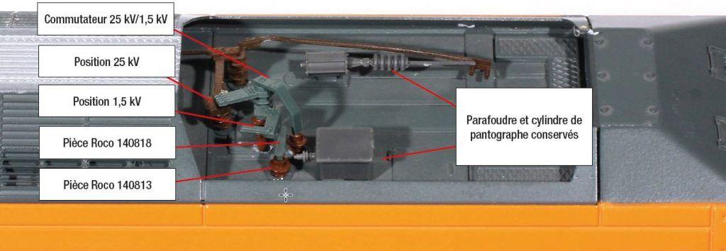 8 - Le commutateur Roco en place sur la toiture Jouef : parfaite intégration avec un peu de colle et de peinture.