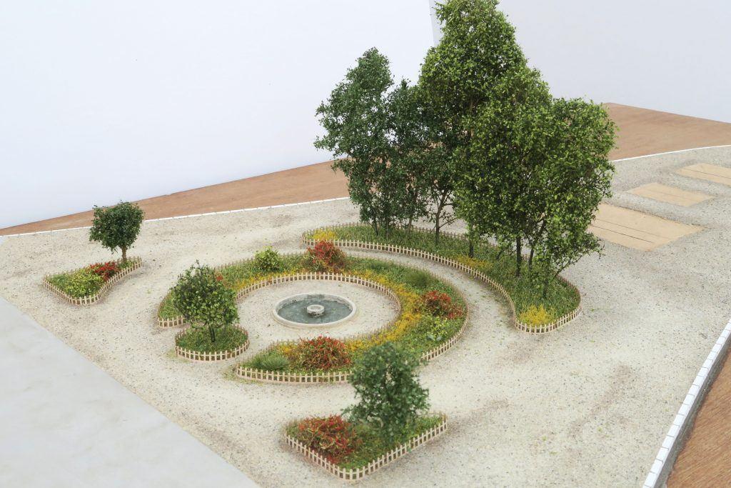 Le jardin de la gare de Figeac
