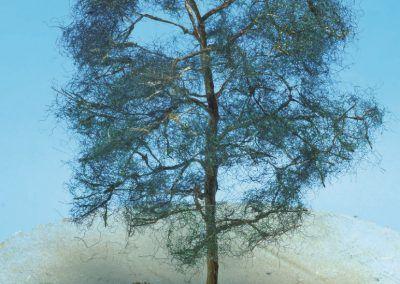 20 – L'arbre a pris son aspect final avant la pose du flocage en copeaux de bois.